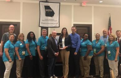 GSFC staff receive the GASFAA Service Award