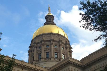 The Gold Dome atop the Georgia State Capitol