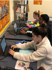 Students on the computer